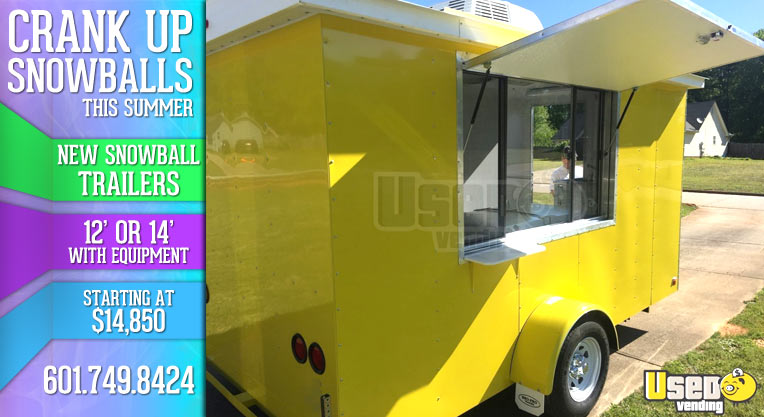 New Snowball Trailers for Sale Snoballs