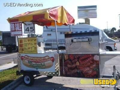 Custom America 10 Foot Hot Dog Cart / Mobile Grill!!!