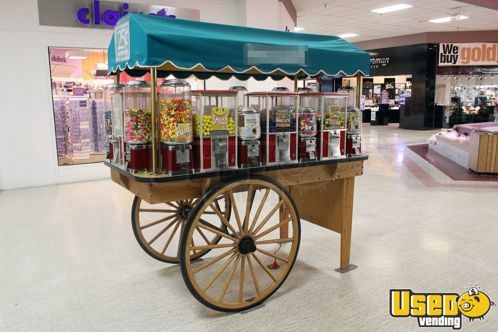 Wood Candy Cart Mall Kiosk 22 Bulk Machines For Sale In
