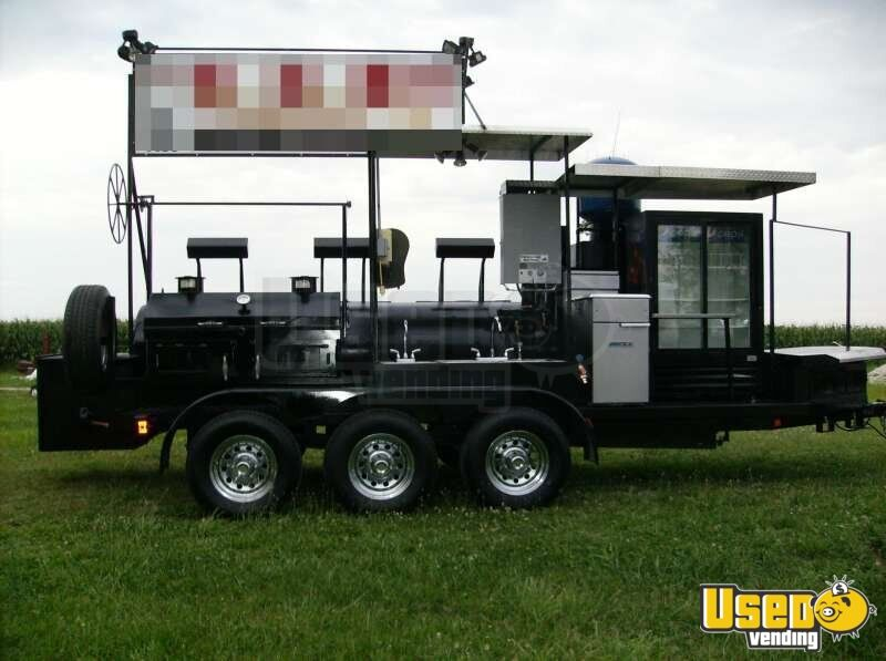 2008   24u0027 Klose Open Air BBQ Smoker Catering Trailer!!!