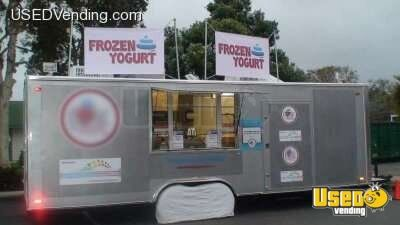 24' - 2008 Custom Carson Racer Soft-Serve Frozen Yogurt Concession Trailer!!!