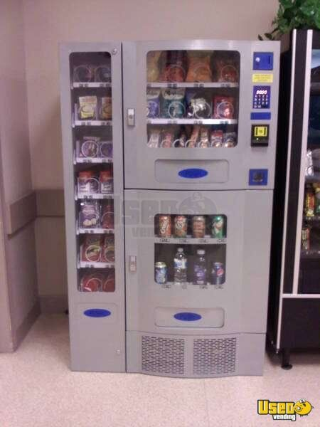 (8) - 2009 Planet Antares / Purco Corp Office Deli Snack, Soda and Entree Vending Machine!!!