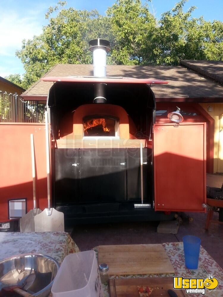 Wood Fired Pizza Oven Pizza Trailer For Sale In California