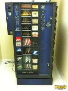 (2) - 2005 Planet Antares Refreshment Center Natural Choice USA Combination Snack and Soda Vending Machine Combos with Dollar Bill Changers!!!