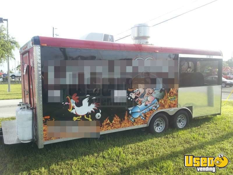 24u0027 x 85 bbq smoker concession trailer for sale in florida
