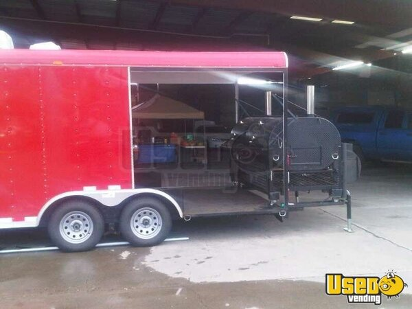2010 - 22' BBQ Concession Trailer with Porch and Smoker!!!