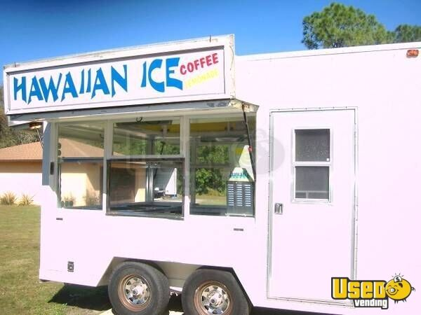 For Sale Used 14 Concession Trailer In Florida Hawaiian