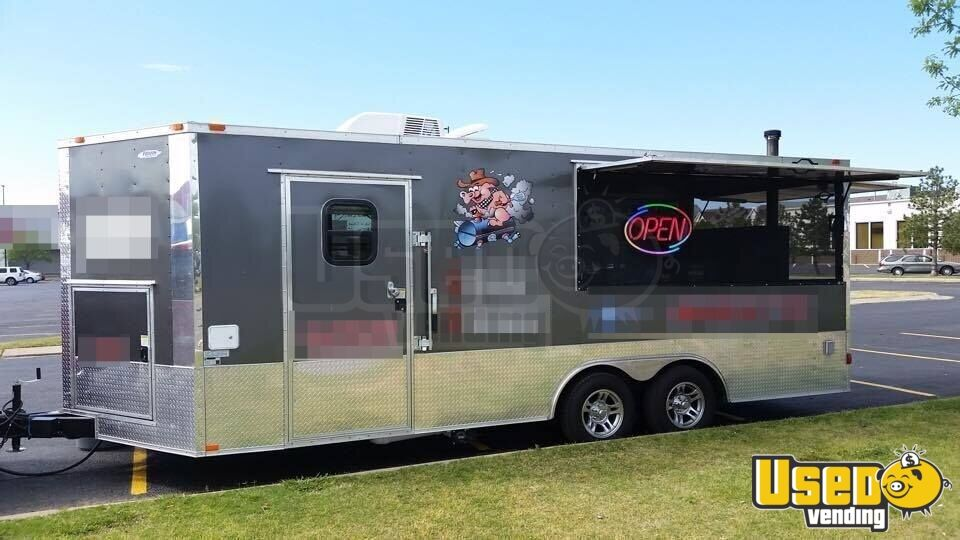 2015 8 5 X 20 Bbq Concession Trailer With Porch