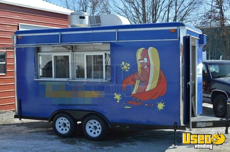 Sanchez 7 X 14 Food Concession Trailer Hot Dog