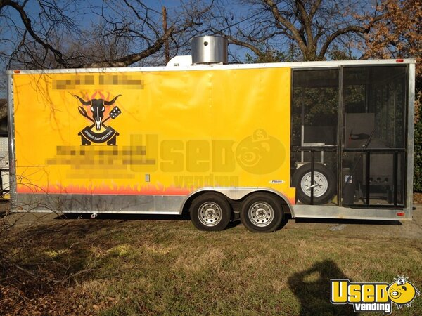 For Sale Used 2013 Bbq Trailer With Smoker Porch In Texas