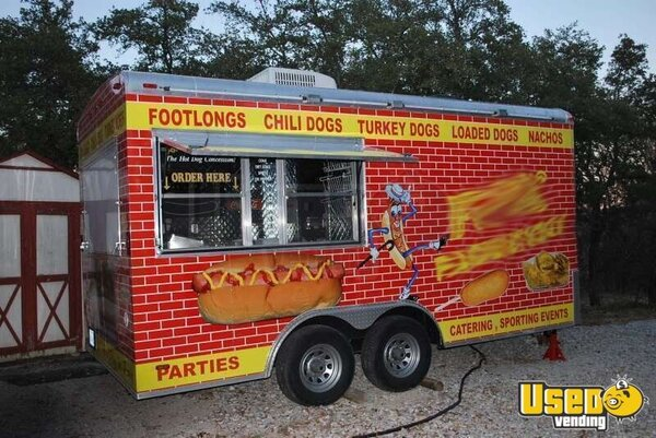 16.5' x 8' Hot Dog / Food Concession Trailer!!!