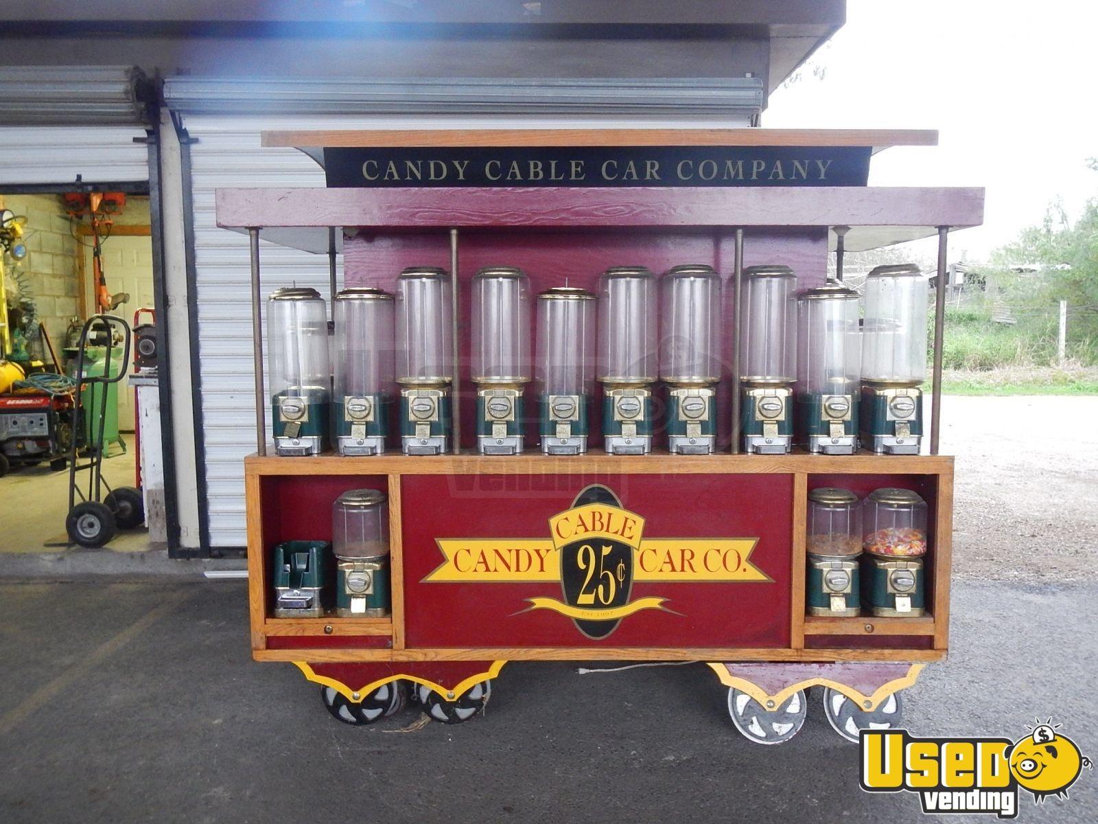 Texas Trolley Mall Gumball Kiosk Beaver Bulk Candy