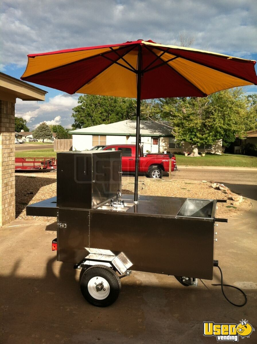 Stainless Hot Dog Cart Food Vending Cart For Sale In Texas