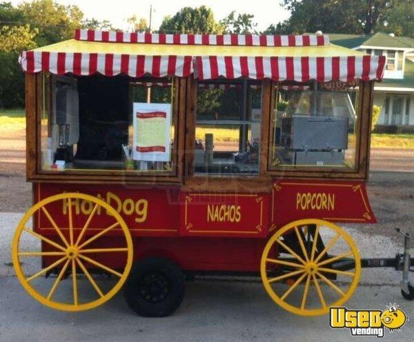 Vintage Popcorn Wagon Antique Concession Trailer