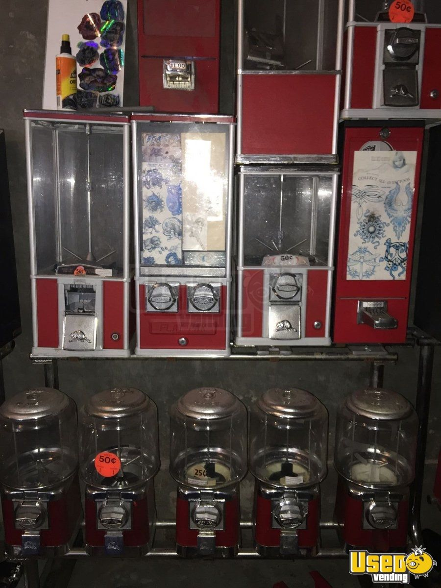 Ice Cream Truck For Sale >> California Lot of Bulk Vending Machines | Used Bulk Sticker Tattoo Machines for Sale