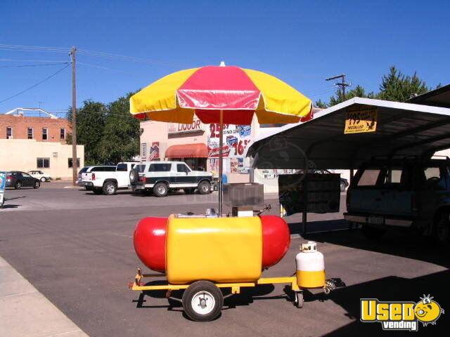 Red Trailer For Hot Dog Cart