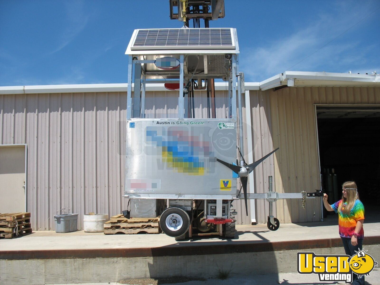 Solar Wind Powered Self Sufficient Food Carts For Sale In Texas