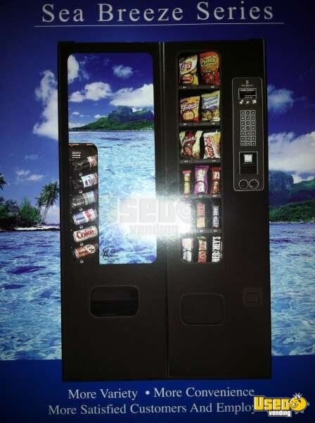 (5) - Avanti Sea Breeze Snack & Soda Satellite Vending Machine Combos!!!