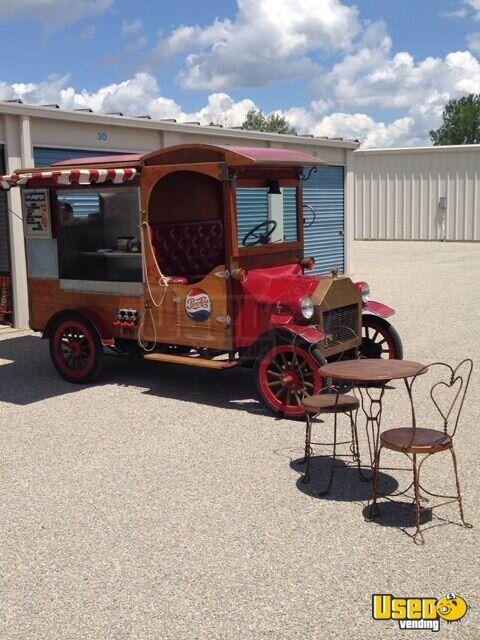 vintage 1915 model t food truck ford concession food truck for sale in ohio. Black Bedroom Furniture Sets. Home Design Ideas