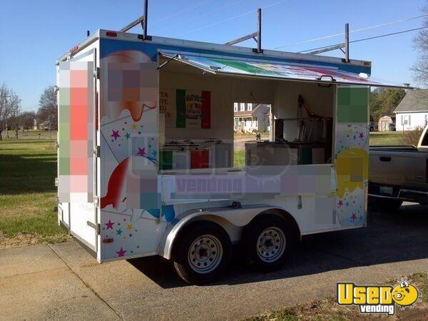 2013 7 X 12 Ice Cream Concession Trailer Kitchen