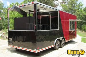 2015 - 22' x 8.5' Custom Built BBQ Porch Concession Trailer - Small 4