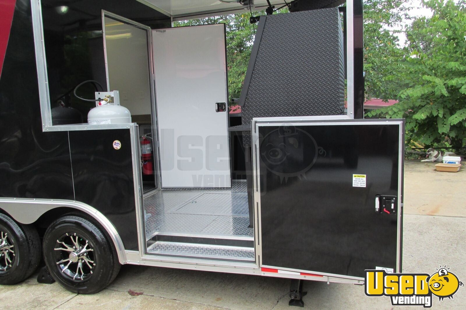 2015 - 22' x 8.5' Custom Built BBQ Porch Concession Trailer - 6