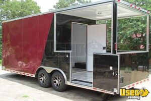 2015 - 22' x 8.5' Custom Built BBQ Porch Concession Trailer - Small 3