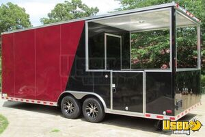 2015 - 22' x 8.5' Custom Built BBQ Porch Concession Trailer - Small 5