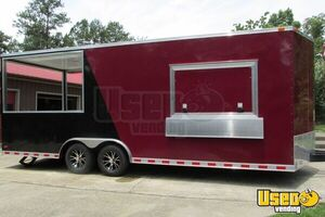 2015 - 22' x 8.5' Custom Built BBQ Porch Concession Trailer - Small 9