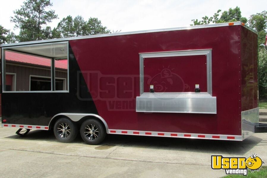 2015 - 22' x 8.5' Custom Built BBQ Porch Concession Trailer - 9