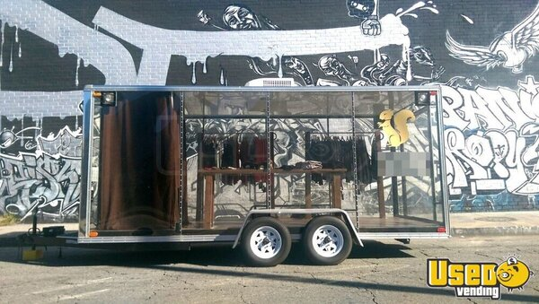 Clear Mobile Retail Store Retail Trailer For Sale In