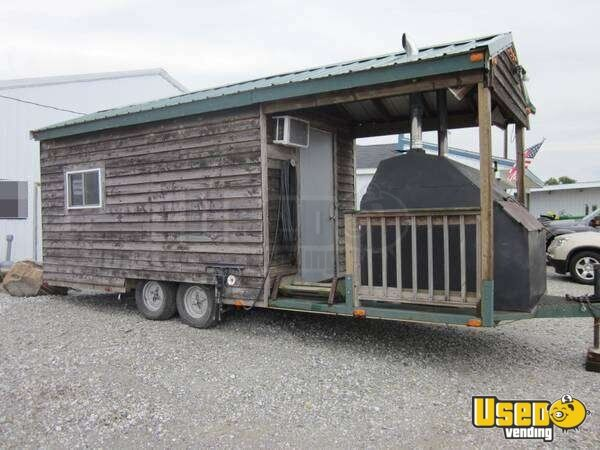 For Sale Used Concession Trailer With Smoker Porch In