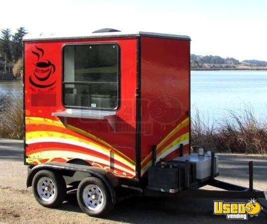 Coffee And Hot Dog Trailer Concession Trailer In