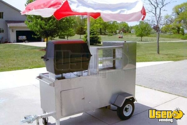 Willy Dog Hot Dog Cart with BBQ!!!
