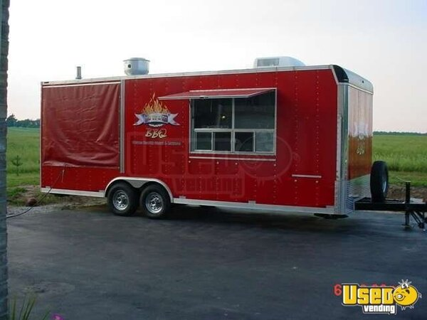 24Ft. Doolittle Ole Hickory Pit Smoker BBQ Concession Trailer!!!