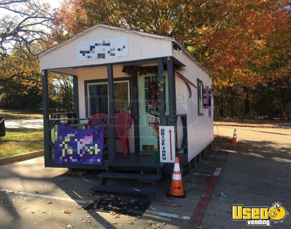 9' x 18' Portable Building with a Drive Thru window for ...