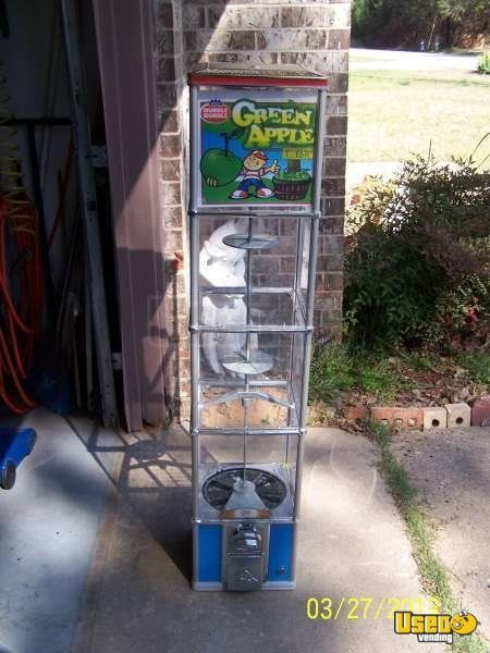 (4) - 4' Tall Beaver Bulk Candy Vending Machines + 14 Head Rack!!!