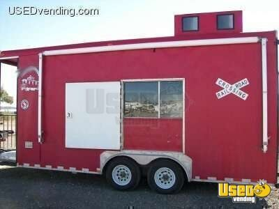18' Custom Train Caboose Food Concession Trailer for Sale in Idaho!!!