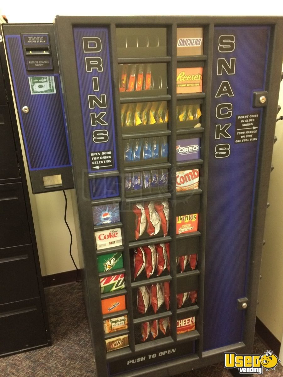 Used Planet Antares Snack And Soda Vending Machines