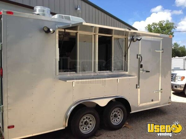 Loaded Mobile Kitchen Concession Trailer For Sale In Texas Commercial Mobile Kitchen