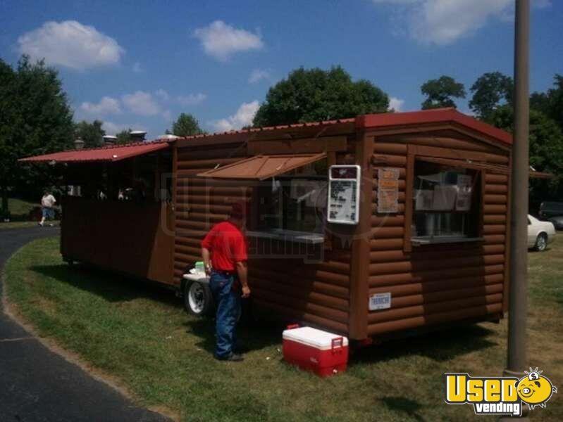 Log Cabin Concession Turnkey Concession Trailer