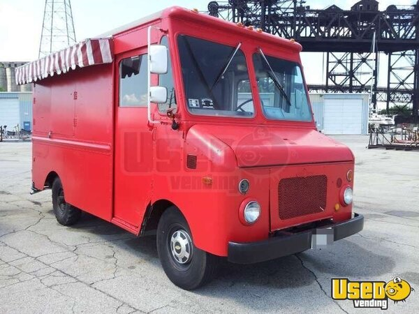 chevy kurbmaster mobile kitchen food truck for sale in illinois. Black Bedroom Furniture Sets. Home Design Ideas
