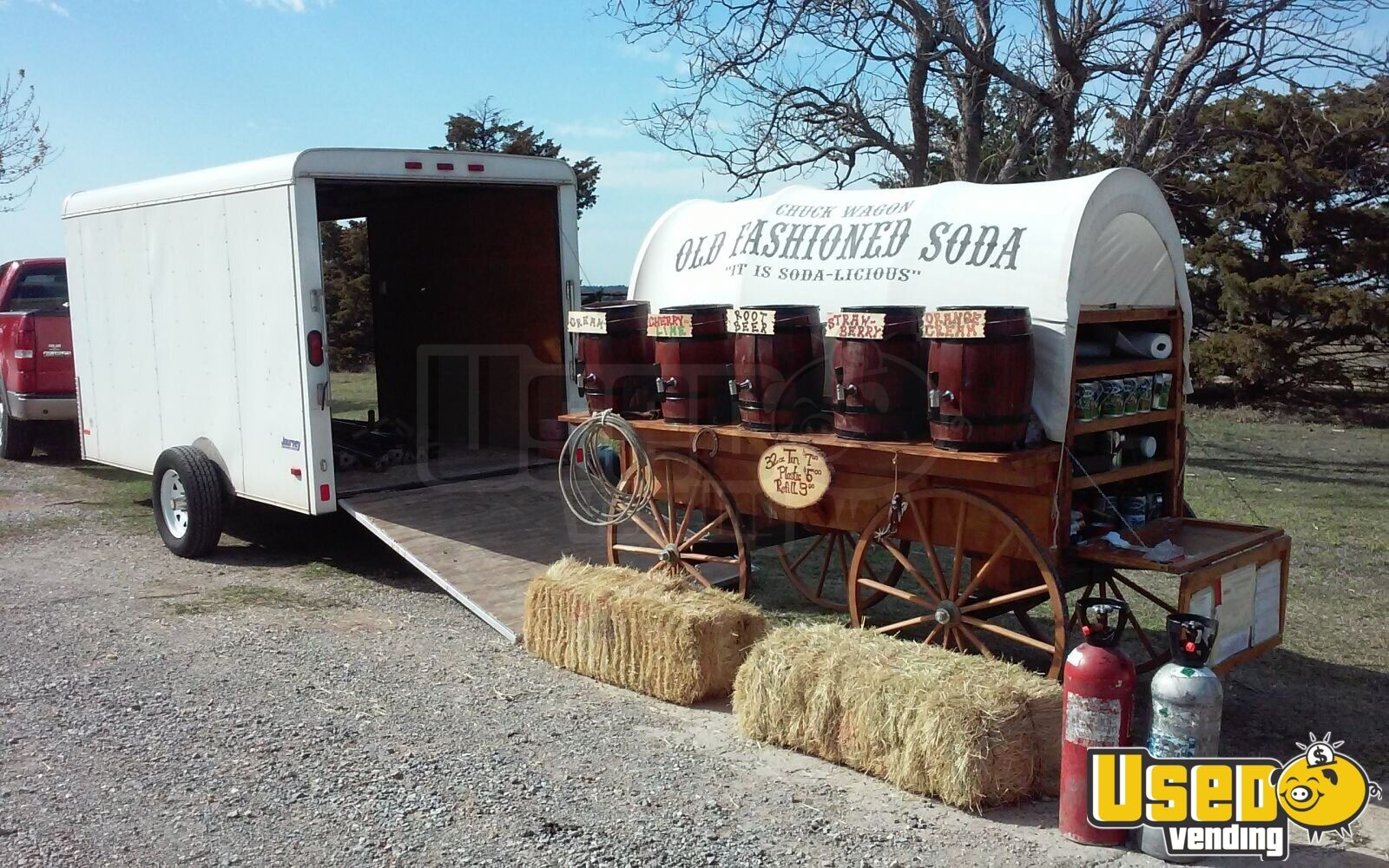 Old Fashioned Soda Wagon | Pace Enclosed Trailer for Sale in Oklahoma