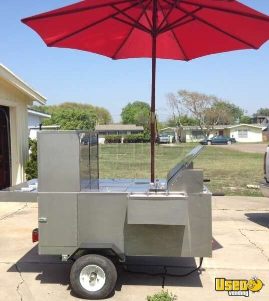 Stainless Towable Hot Dog Cart Street Food For Sale In Texas