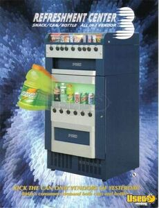 RC3 Snack Soda Vending Machine Combo Fortune Resources