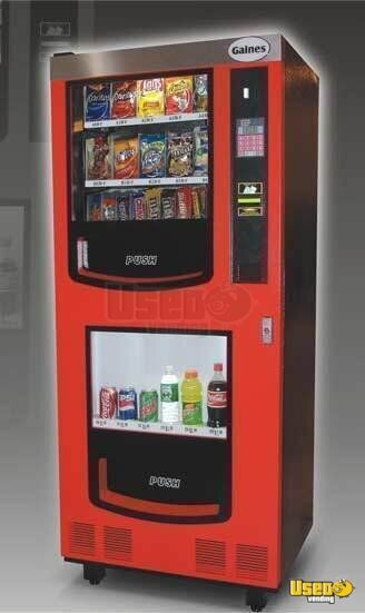 (5) - 2007 Gaines VM-750 Electrical Snack and Soda Vending Machine Combos!!!